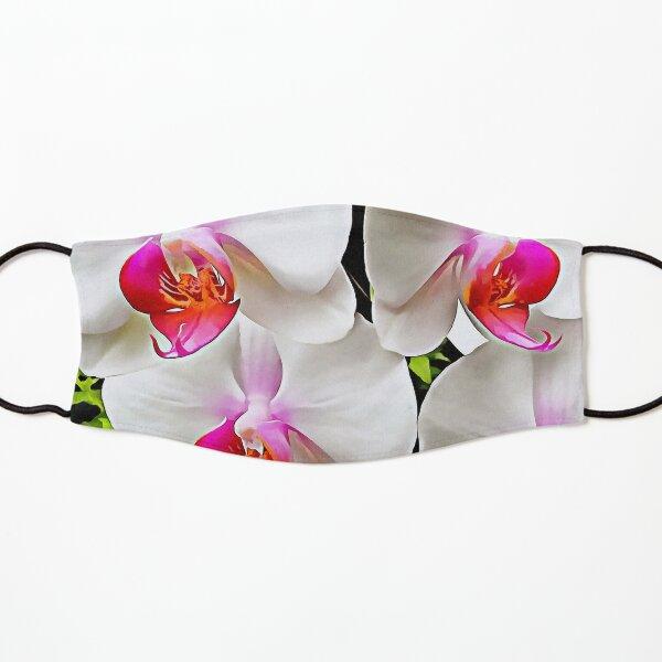 White Orchid Pattern 3 Kids Mask
