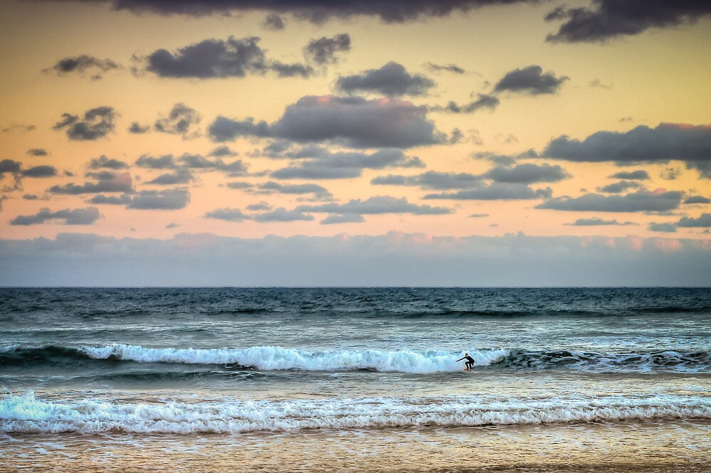 Lone Surfer by Russell Charters