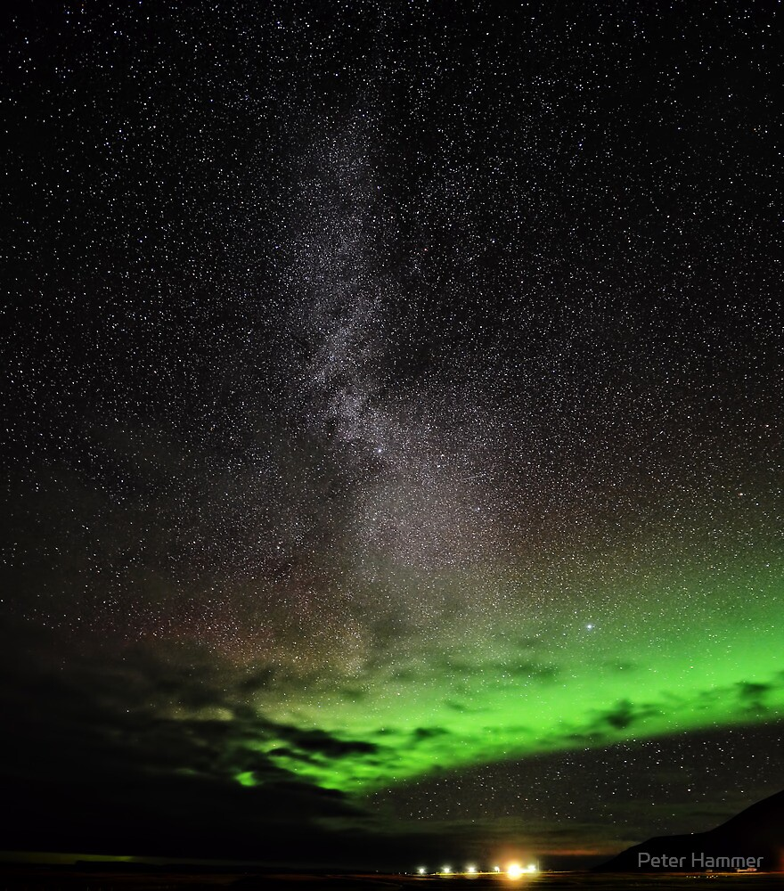 Aurora and Milky Way by Peter Hammer