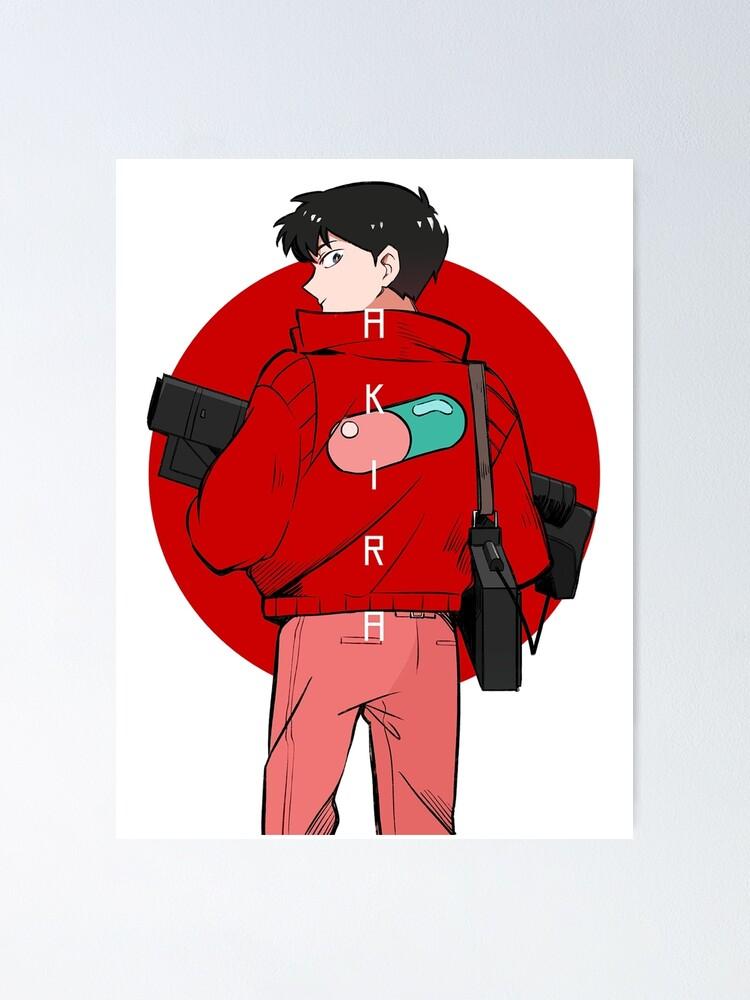 Kaneda Shotaro Akira Anime Manga Poster By Raionha Redbubble