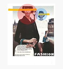 Fashion Collage Photographic Print