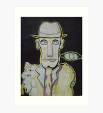 The man in the Bowler Hat Art Print
