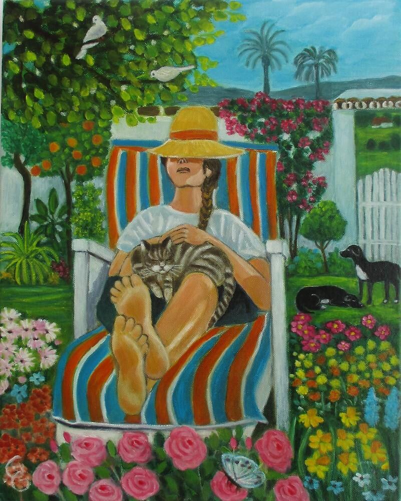 Siesta in the garden. by gloria47