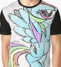 Rainbow dash stencil art Graphic T-Shirt