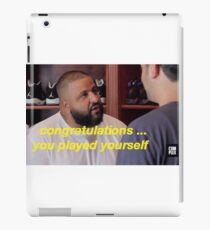 DJ Khaled Congratulations You Played Yourself iPad Case/Skin
