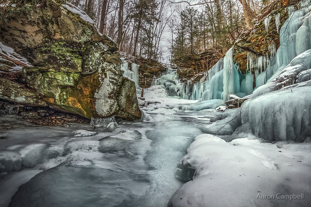 Blue Ice below Ozone by Aaron Campbell