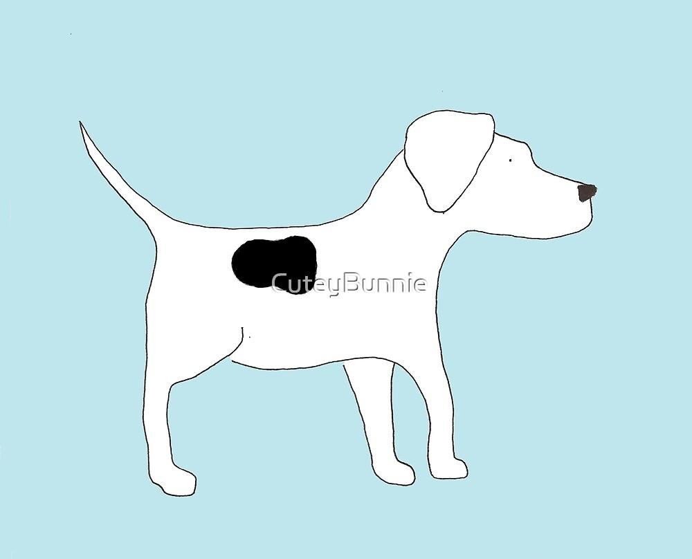 Dog Bradley Blue Back Classic by CuteyBunnie