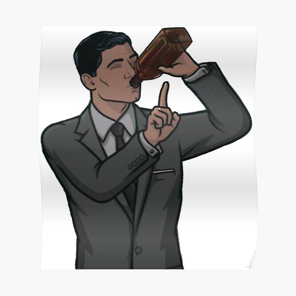 Archer drinking Poster