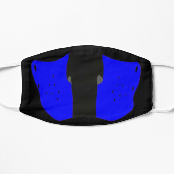 Leather pup play face mask Flat Mask