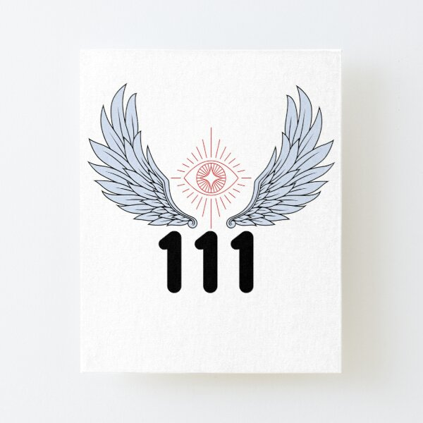 Angel Number 111 Canvas Mounted Print