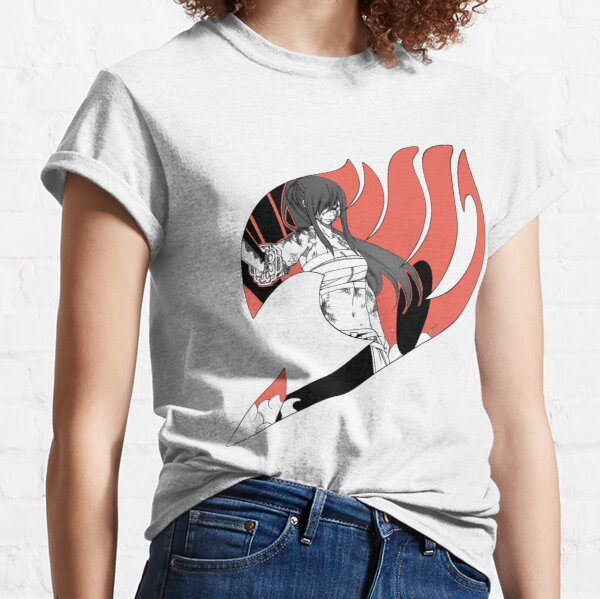 Erza Scarlet Fairy Tail Logo Classic T-Shirt
