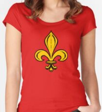 Fleur-de-lis Women's Fitted Scoop T-Shirt