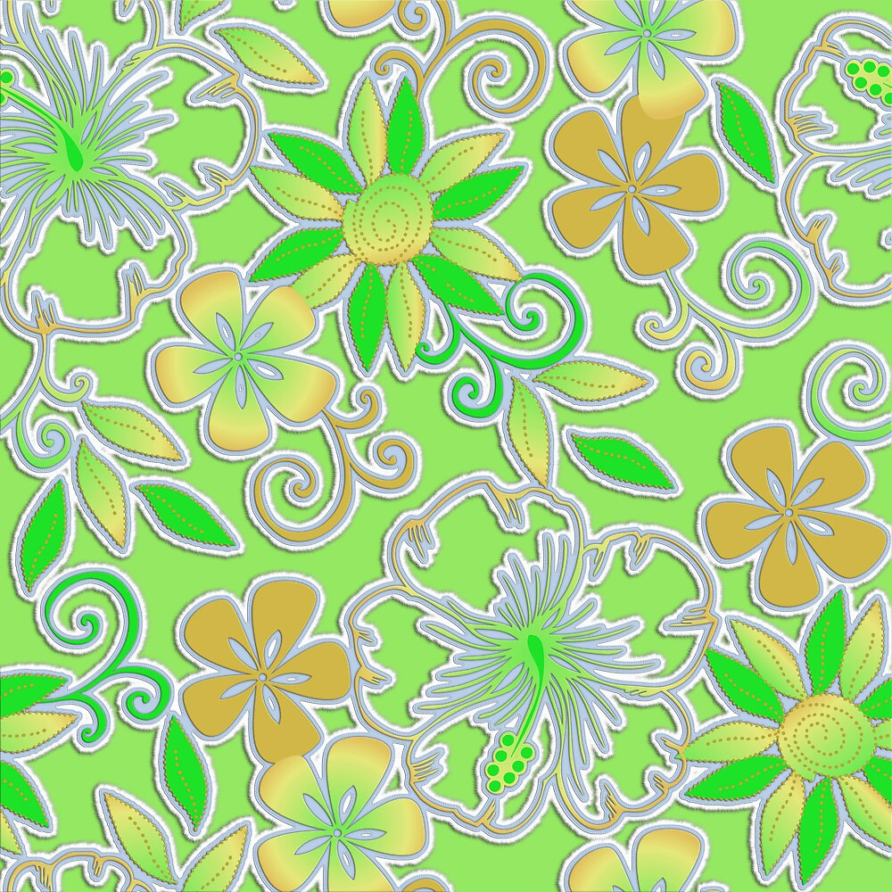Lime Floral by rcurtiss000