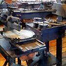 Machine Shop With Punch Press by Susan Savad
