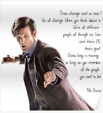 11th Doctor's Quote Poster