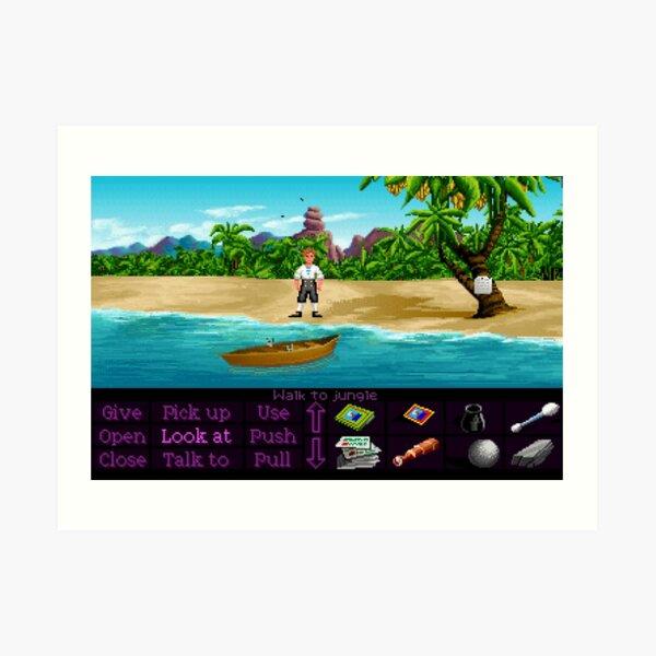 Finalmente en Monkey Island (Monkey Island 1) Lámina artística
