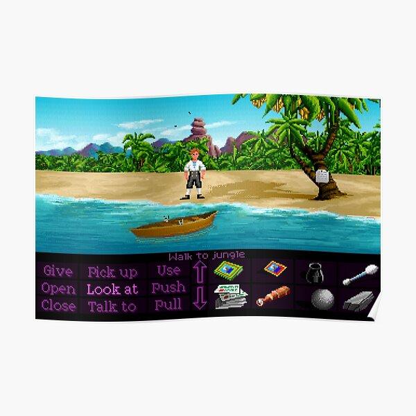 Finally on Monkey Island (Monkey Island 1) Poster