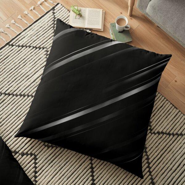 Minimalist Black Linear Abstract Print Floor Pillow