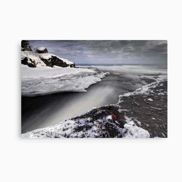 Cascade River Mouth, Lake Superior Metal Print