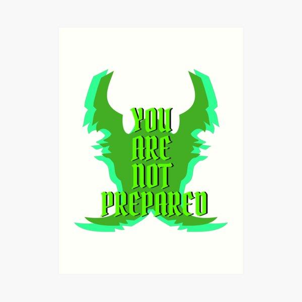Hearthstone Demon Hunter Taunt You Are Not Prepared Art Print