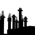 all black pillars by fabio piretti