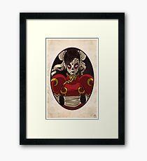Chun Li Skull Girl Framed Print