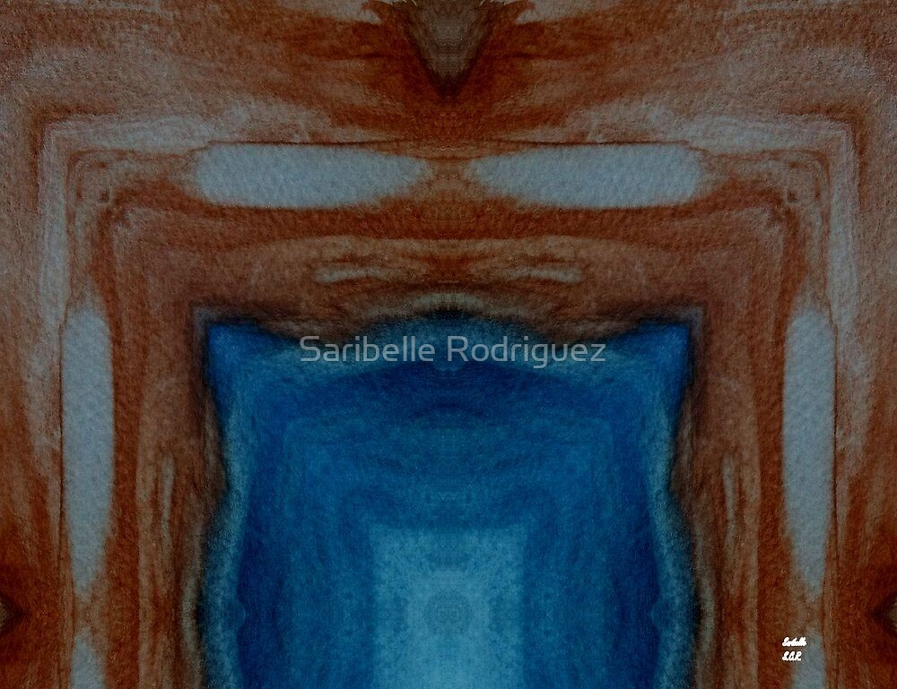 The Tunnel Vision Abstract Painting by Saribelle Rodriguez