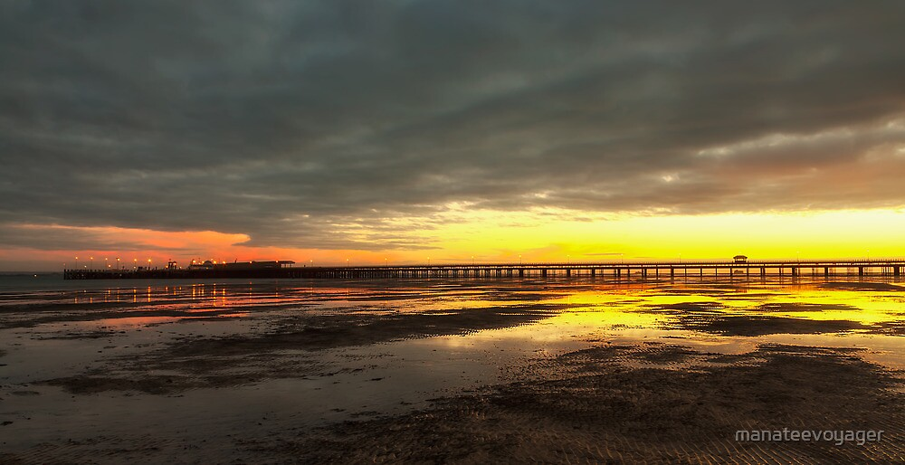 Dawn At Ryde Pier by manateevoyager