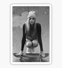 Skateboard Girl Sticker