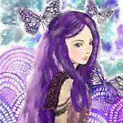 Portrait Of A Maiden In Purple Winter by YazminBasa