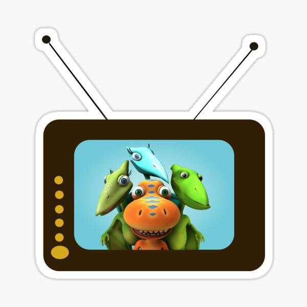 Familia de dinosaurios de dibujos animados Pegatina