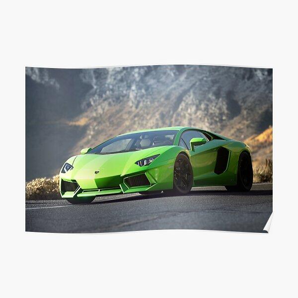 Lamborghini Aventador LP 700 photographie de voiture en gros plan Poster