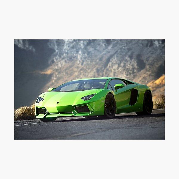 Lamborghini Aventador LP 700 photographie de voiture en gros plan Impression photo