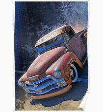Rat Rod Chevy Poster