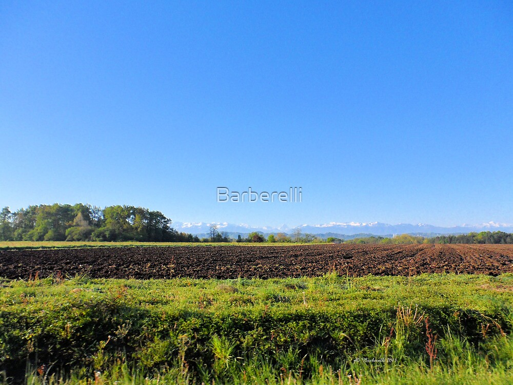 Landscape in France by Barberelli