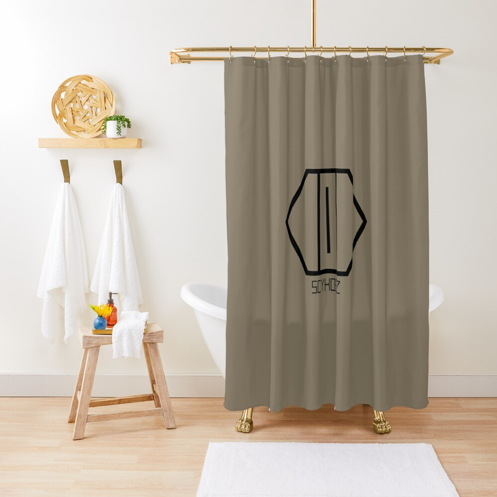 SCYKOSIZ - CATS EYE LOGO Shower Curtain