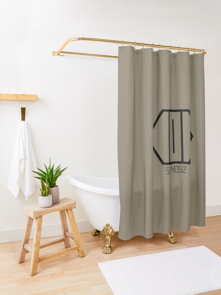 Alternate view of SCYKOSIZ - CATS EYE LOGO Shower Curtain