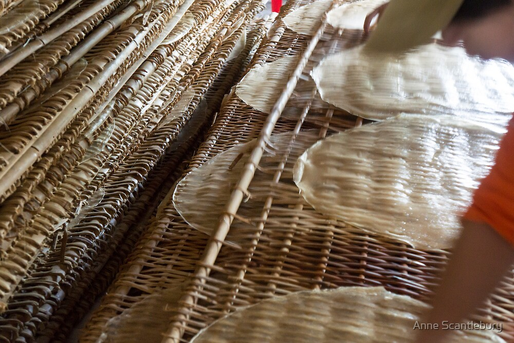 drying noodles by Anne Scantlebury