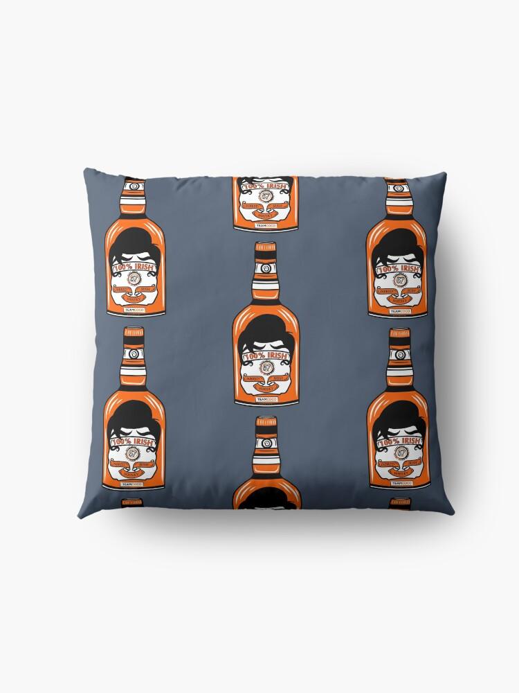 Alternate view of Team Coco 100% Irish Conan O'Brien Inbred Whisky  Floor Pillow