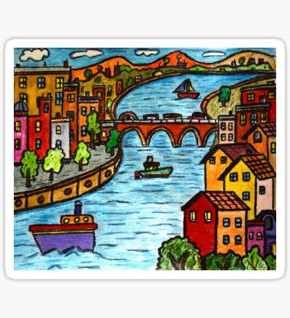 River Scape Sticker