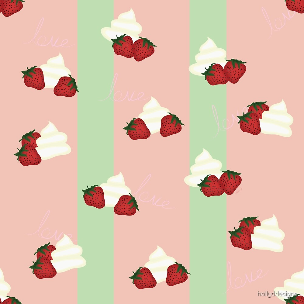 Strawberries and cream by hollyddesigns