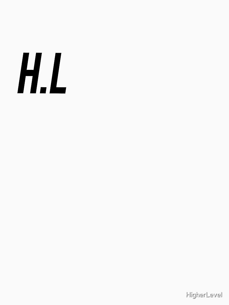 H.L chest logo BLACK  by HigherLevel