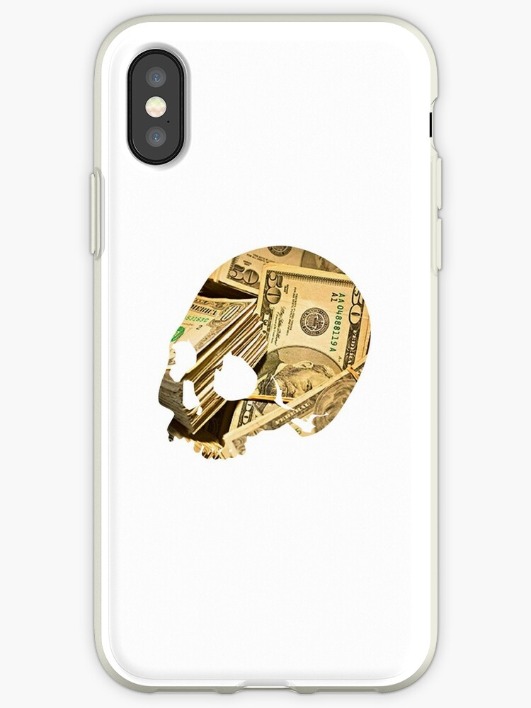 Cash Skull iPhone Case by borntokill