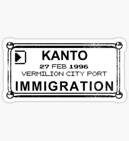 Kanto Tourist Sticker