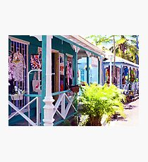Chattel Shops of Barbados Photographic Print
