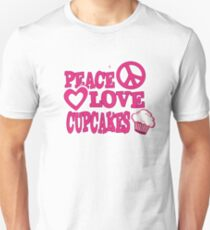 Peace Love and Cupcakes Unisex T-Shirt