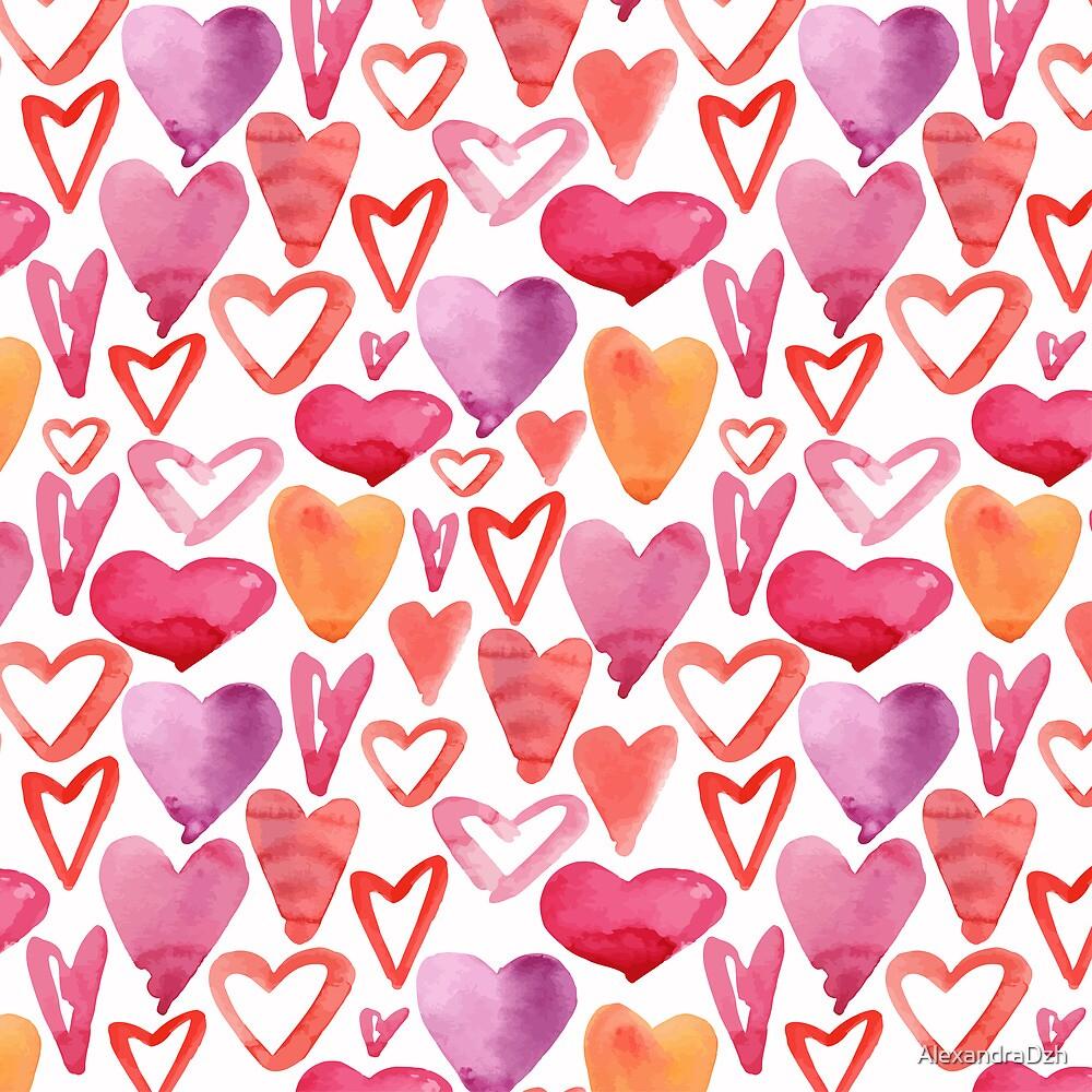 Lovely hearts by AlexandraDzh