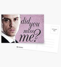 Moriarty Miss Me Card Postcards