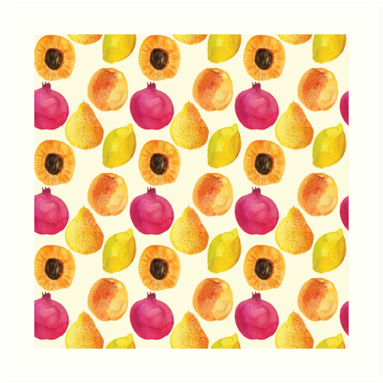 Watercolor fruits by AlexandraDzh