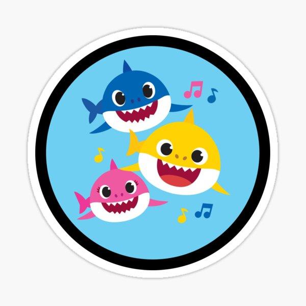 Una familia de tiburones con bebé Pegatina